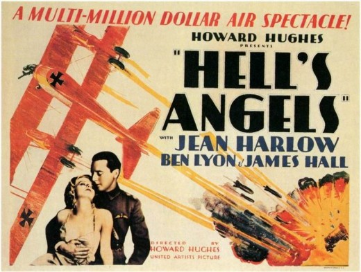 Howard Hughes'in milyon dolarlar harcadığı Cehennem Melekleri filmi afişi